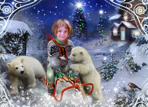 Christmas Card digital art project
