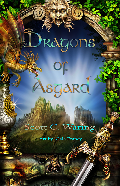 Dragons of Asgard book cover design