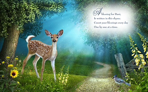 Fawn and bluejay